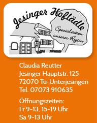 Sponsor Jesinger Hoflädle